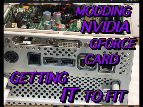NVIDIA GEFORCE MODDING BACK PLATE POWER MAC G4 CUBE DAVE's VINTAGE APPLE TECH