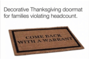 Got a new front door mat for Thanksgiving