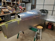 Rear fuselage top skin