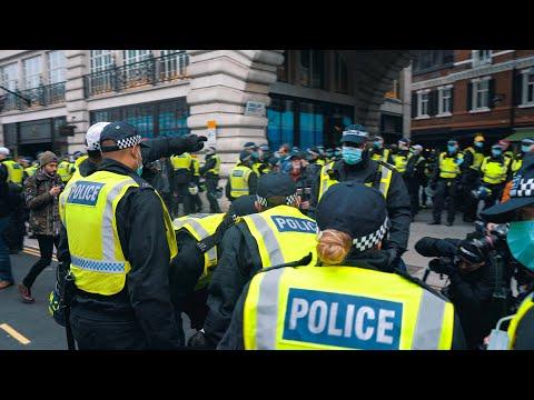 Anti Lockdown Protest London 150+ ARRESTED POLICE BEAT PROTESTORS!! 28 November