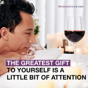 Glass of Wine after a Massage