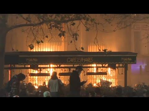 France Paris Rothschild Bank Burning