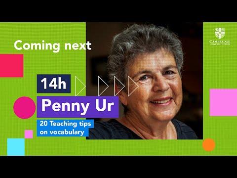 Penny Ur - 20 Teaching tips on vocabulary   #CambridgeDay2020