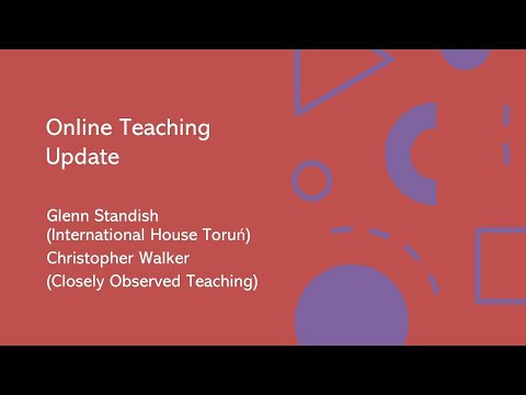 Online Teaching Update with Glenn Standish