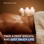 Massage, yes, more massage please!