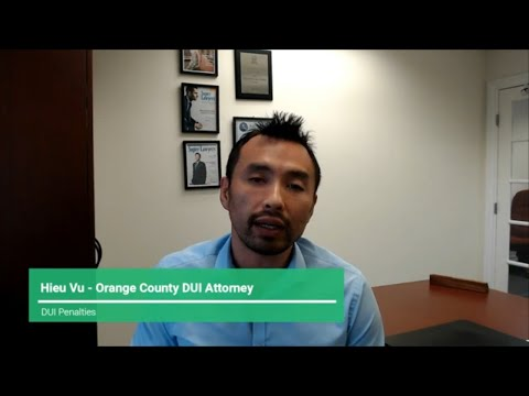 DUI in Orange County - What are the Penalties
