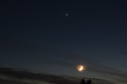 Saturn, Jupiter and Moon conjonction 2020 december 16