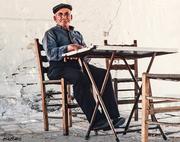Πάτμος_ 1983  Στον Καφενέ