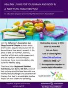 Healthy Living for Your Brain and Body and A New Year, Healthier You!