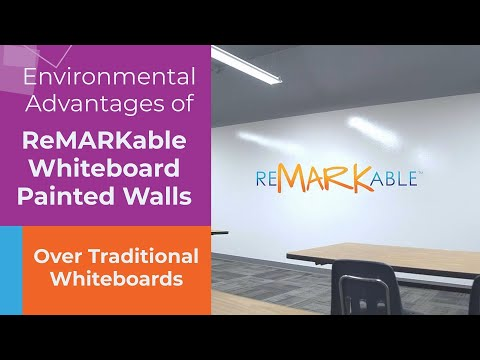 Environmental Advantages of ReMARKable Whiteboard Painted Walls Over Traditional Whiteboards