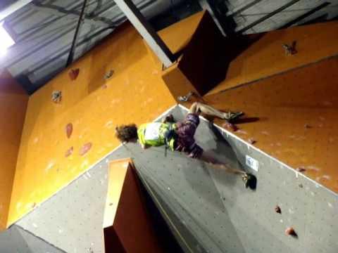 Adam Ondra winning the World Cup climbing Puurs