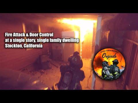 Control de puertas y ataques de incendios en viviendas unifamiliares de un solo piso • Stockton, CA