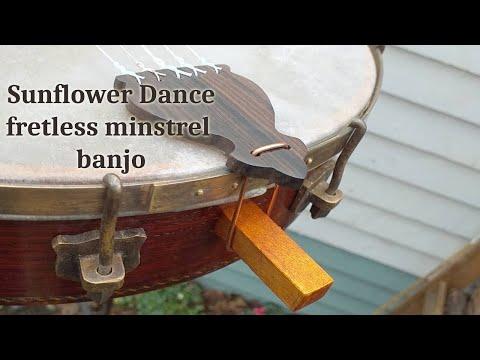 sunflower dance, classic banjo, fretless minstrel banjo