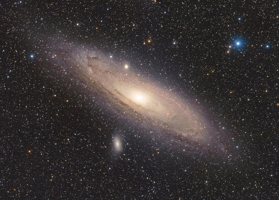 M31 Andromedagalaxen HaRGB Mosaik