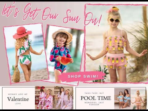 Baby Girls Two-piece Swimsuits