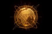 Planet - in golden