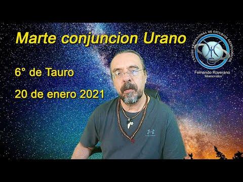 Marte conjuncion Urano 6° de Tauso