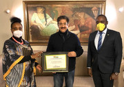 Sandeep Marwah Honoured by Rwanda High commission