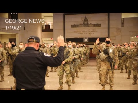 National Guard Soldiers 'Take The Oath' and are Deputized at U.S. Capitol