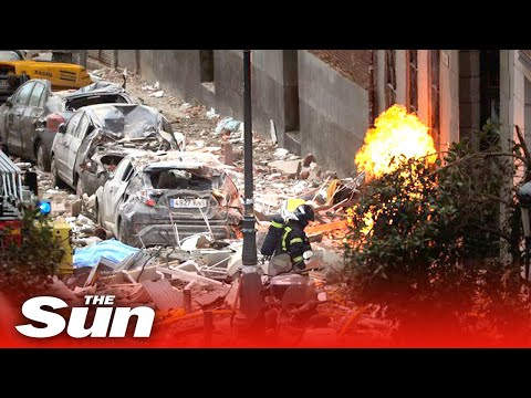 Madrid explosion – Fatal blast destroys building in centre of Spanish capital