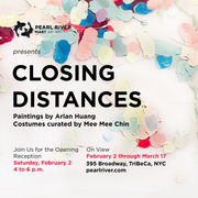 """Opening Reception: """"Closing Distances"""" Paintings by Arlan Huang, dresses curated by Mee Mee Chin"""