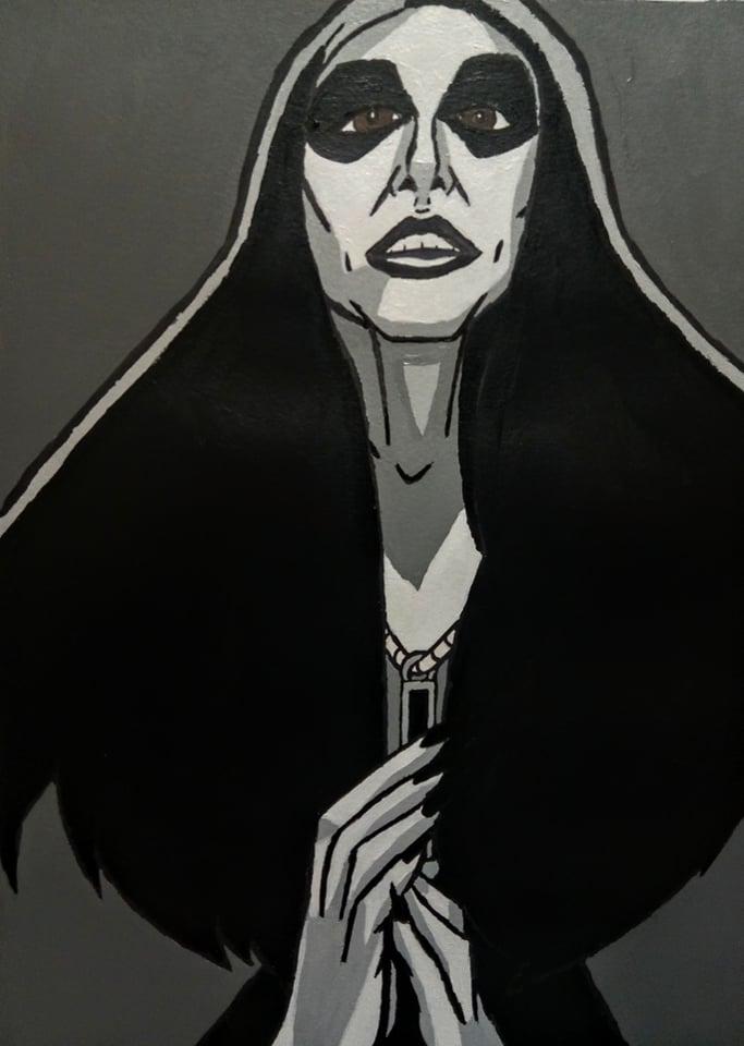 Black Metal Woman