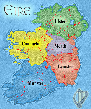 Map Of Ireland Leinster.That Fifth Province Of Ireland The Wild Geese