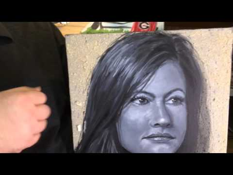 Memorial Portraits using Cremated Ashes
