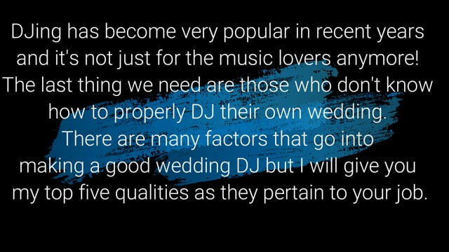 5 Important Qualities of A Wedding DJ You Must Know | DJing.ca