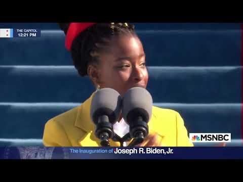 Amanda Gorman performs at Joe Biden's inauguration