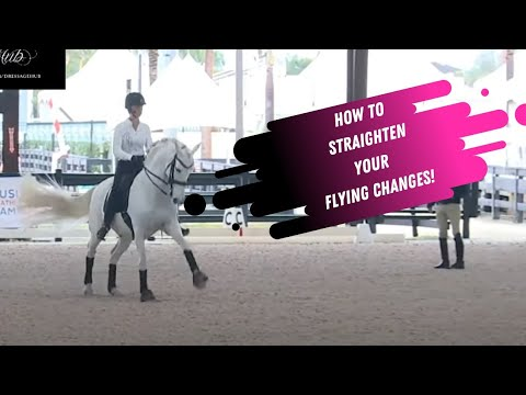 How To Straighten The Flying Changes In Dressage
