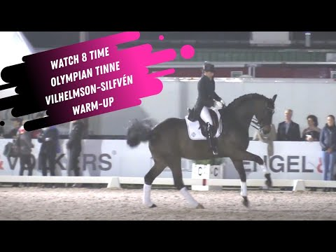 Watch 8 Time Olympian Tinne Vilhelmson-Silfven Grand Prix Dressage Warm-Up Unedited