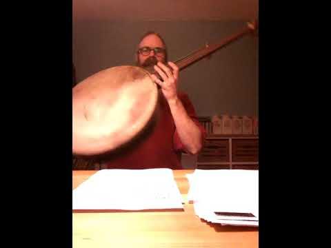 Fretless 'minstrel' banjo from a 18 inch bohdràn