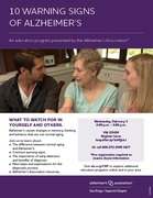 10 Warning Signs of Alzheimer's - Presented by the Alzheimer's association