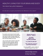 Healthy Living for Your Brain and Body - Presented by the Alzheimer's Association