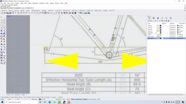 Rhino Sub D CF bike frame