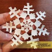 Снежинка в технике puncetto