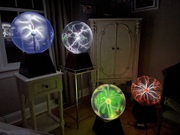 Four Aurora plasma globes