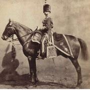 Scottish? horse and rider