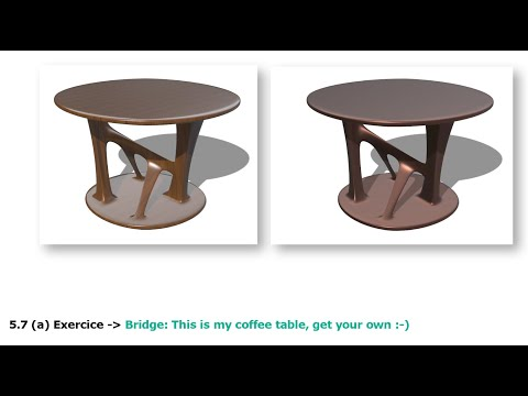 Simple coffee table with SubD in Rhino 7