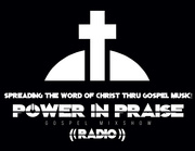 POWER IN PRAISE RADIO White Cross TEE SHIRT DESIGN