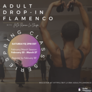 Ballet Hispánico School of Dance Virtual Adult Flamenco Classes Registration Now Open