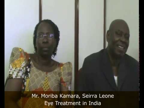 Mr. Moriba Kamara from Sierra Leone Got his Eye Treatment Form India