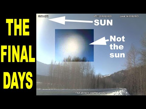 The final days. 2 light sources in the sky! Sunlight blocked for 30 minutes during eclipse 2-16-2021