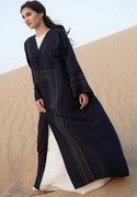 Blue Abaya with Hand Embroidery | Try Modern Abayas at Moistreet