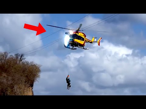 HELICOPTERO DE RESCATE GOLPEA LAS LINEAS ELÉCTRICAS - MARTINICA, FRANCIA
