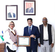 Sandeep Marwah Honoured by High Commission of Lesotho