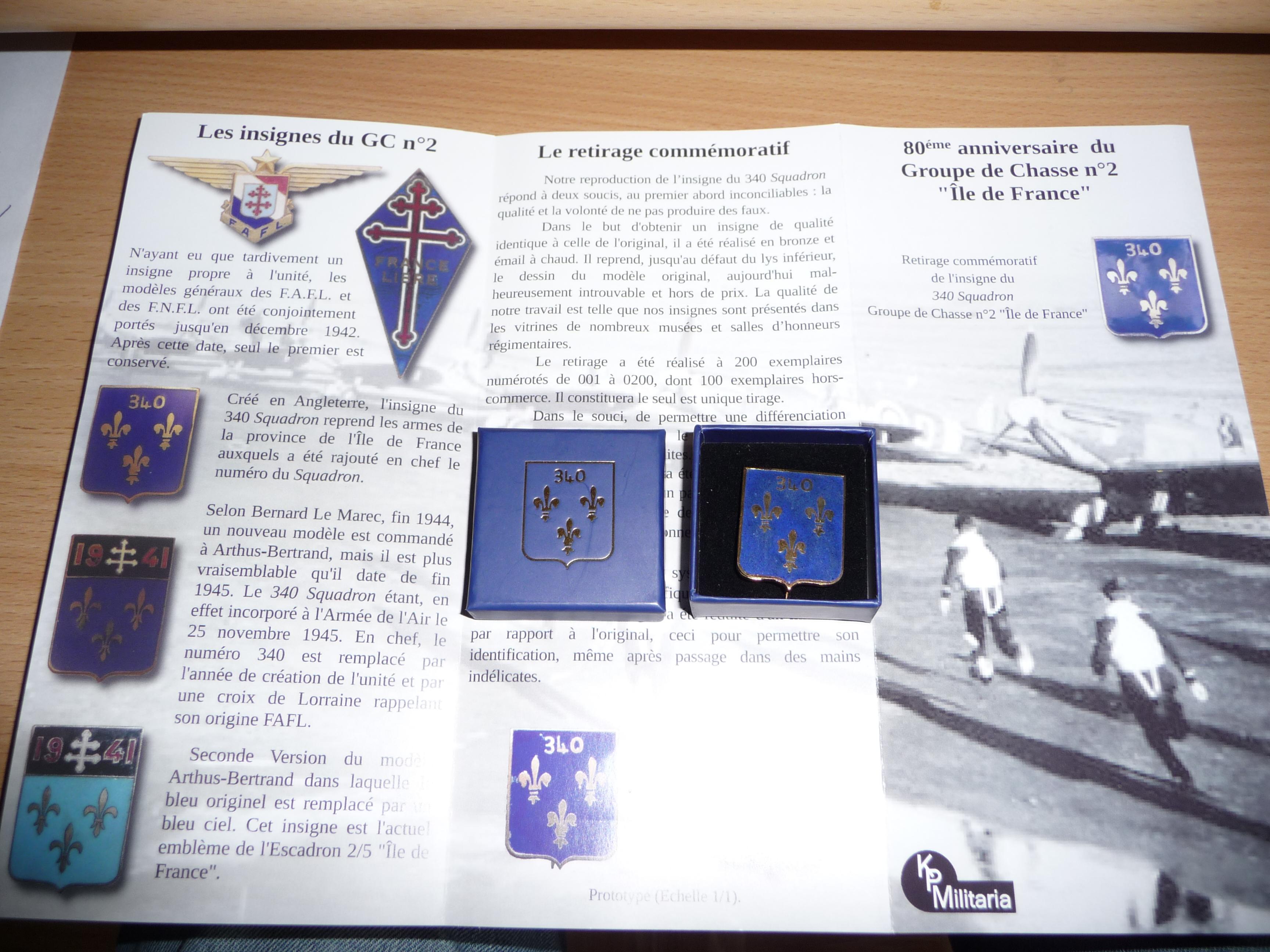 Insignia of the RAF (French) Squadron 340FAFL GC2 Ile de France