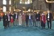 Josh hartnett&guy ritchie visits santa sofia istanbul