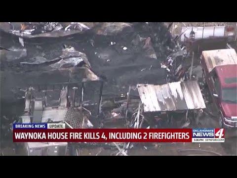 Dos bomberos y dos residentes mueren en un incendio en una casa de Oklahoma